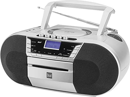 Kassettenradio mit CD /• UKW-Radio /• Boombox /• CD-Player /• Stereo Lautsprecher /• AUX-Eingang /• Netz- Batteriebetrieb /• Tragbar /• Schwarz /• Dual P 70