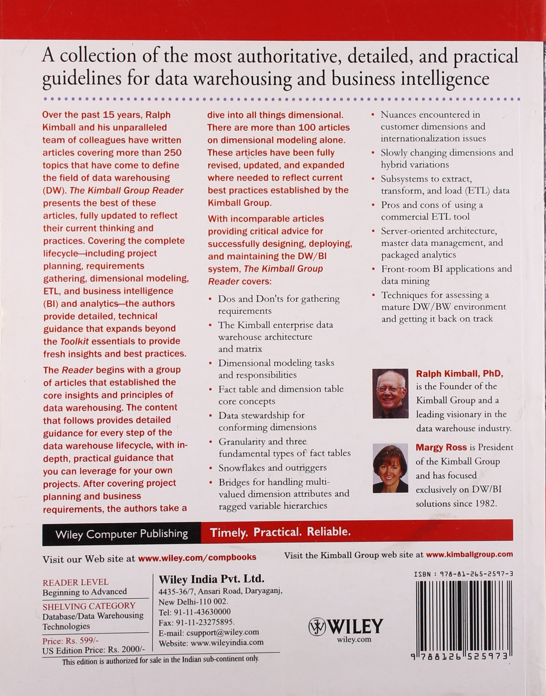 Buy The Kimball Group Reader: Practical Tools for Data Warehousing ...