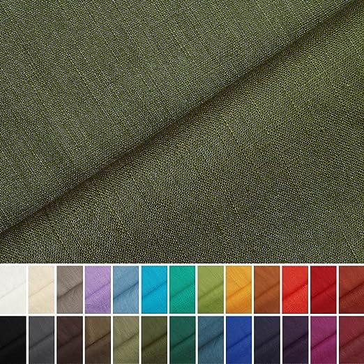 6 opinioni per Holmar- tessuto lino prelavato industrialmente- stoffa al metro (muschio)