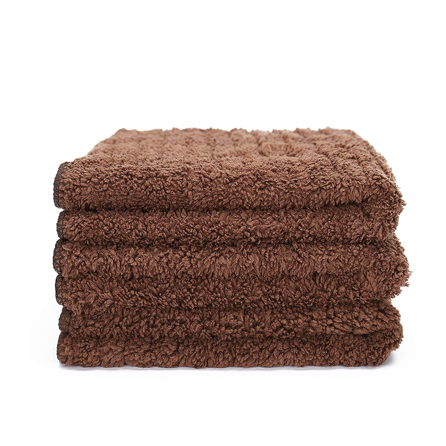 Great Water Absorbent Cleaning Towels for Cooking in Kitchen and Household Cleaning Tea Towels Dust Cloth - - Soft Microfiber Kitchen Towels Dish Cloth 3 Pack, 12 x 12 inch