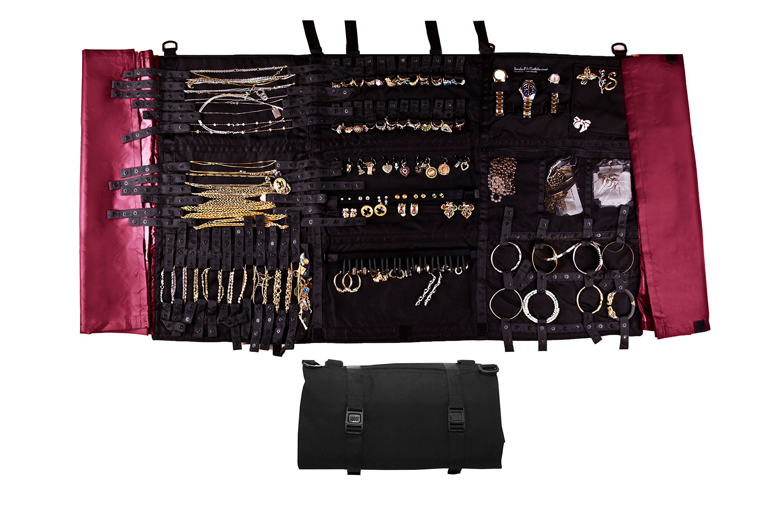 Folding Foldable Storage Case Jewelry Organizer by Jewelry File Portfolio 21 Century Holds over 117 pieces Securely