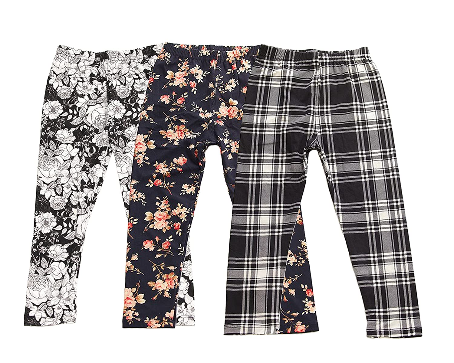 Simply Savvy Co USA Designers 3pk Girls Kids Floral Tights Leggings 4-8yrs Color Options