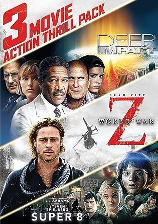 3 Movie Action Thrill Pack: Deep Impact/World War Z/Super 8 Region 1