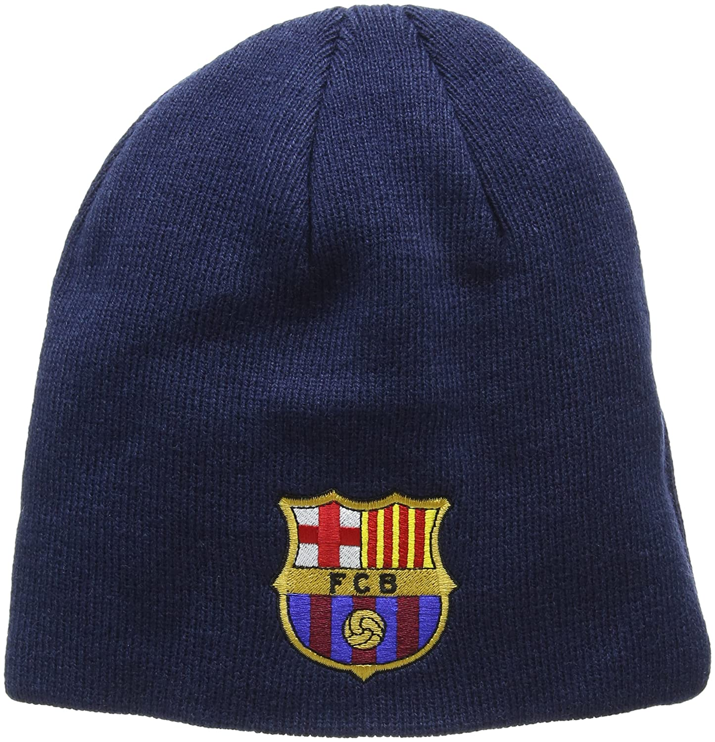 8a13fc3007c5db FC Barcelona Knitted Core Beanie Hat - FCB Bronx Beanie - Great Barcelona  Fan Knitted Hat - Official Barca Gear - One Size Fits Most - 100% Acrylic -  Navy ...