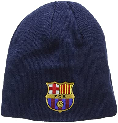 9be3d61866f Barcelona Core Beanie Hat - Navy  Amazon.co.uk  Sports   Outdoors