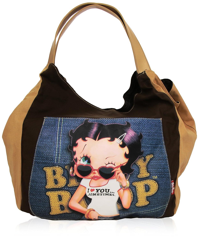 Betty Boop Cabas de Fitness Sac à Main Trendy Jeans 40 cm (noir) 63899 63899-BB_Black_40