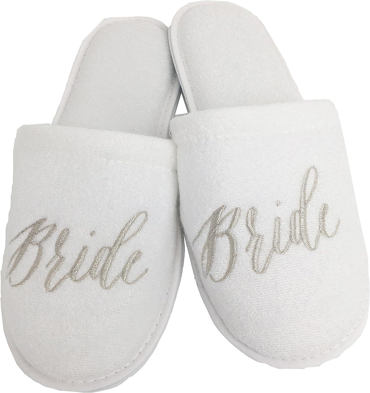 Bridal Party Slipper Bride Slippers- Bridesmaid Slippers Gift ideas Bridal Party Gifts Thin Spa Slippers Bridesmaid Gift Ideas