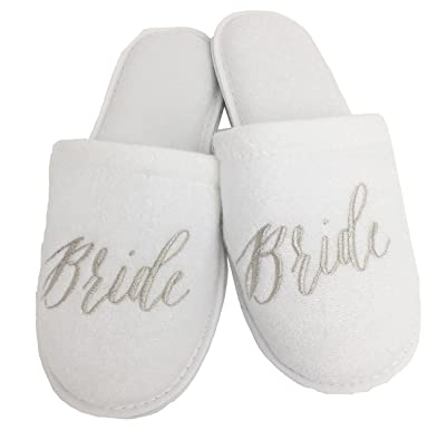 9b08a3f47 Wedding Slippers - (Medium (W6-8)