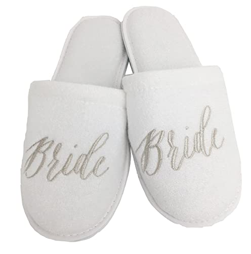 30422287a0 Wedding Slippers - Bride, Groom, Maid of Honor, Bridesmaid, Mother ...