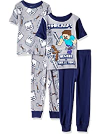 76d2504bcc Minecraft Boys  4-Piece Cotton Pajama Set