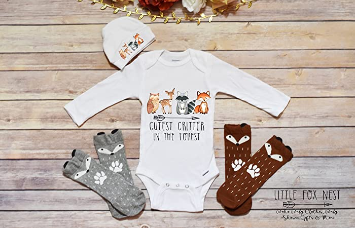 Amazon.com: Boho Baby Clothes, Baby Boy Clothes, Fox Onesie, Fox ...
