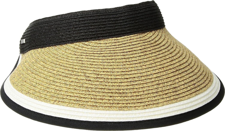 San Diego Hat Company Women s Contrast Color Stripe and Adjustable Back  Visor 0326252dd8f0