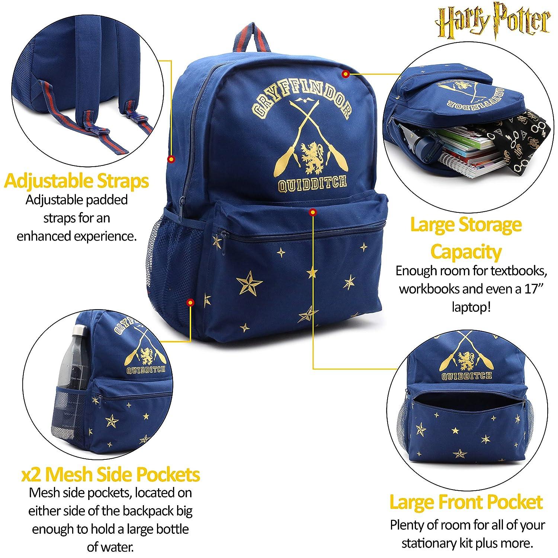 Harry Potter Mochila Gryffindor para Chicos Chicas Mochilas Mujer Hombre: Amazon.es: Equipaje