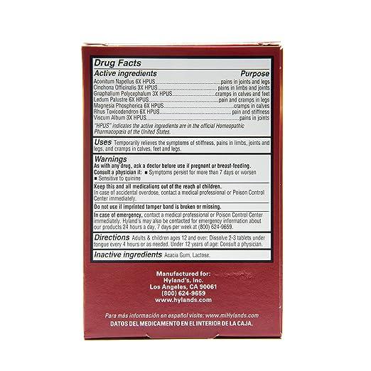 Hylands - calambres en las piernas PM - 50 tabletas: Amazon.es: Salud y cuidado personal