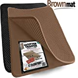 "Cat Litter Trapper by iPrimio - Litter Mat, EZ Clean Cat Mat, Litter Box Mat Water Proof Layer and Puppy Pad Option. Patent Pending. (23""x21"")"