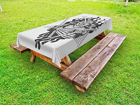 Amazon.com: Lunarable Japanese Outdoor Tablecloth, Fearsome ...