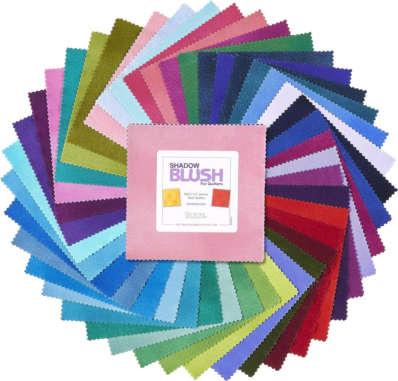 Benartex Shadow Blush Blender Basic 5in Multi 42 pcs