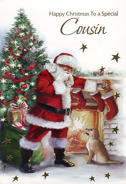 Buon Natale Cugini.Buon Natale A Una Speciale Cugino Babbo Natale E Cucciolo Di Natale Amazon It Cancelleria E Prodotti Per Ufficio