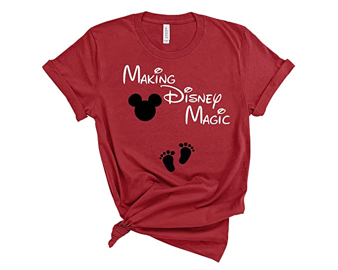 fefc4e28165a2 Making Disney Magic Shirt Maternity Disney Mommy T Shirt Funny Pregnancy  Announcement Tee (Small)