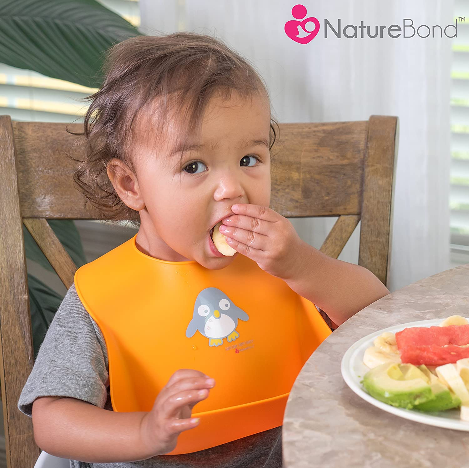 NatureBond Waterproof Silicone Baby Bibs For Babies 2 PCs Cotton Candy Pink /& Macaron Lavender with Waterproof Pouch Toddlers