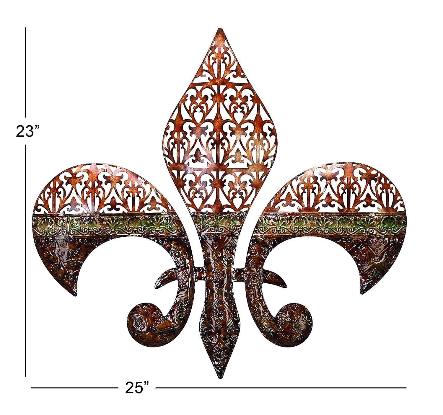 Buy Deco 79 Metal Wall Decor Excellent Fleur Di Lis On Metal Wall
