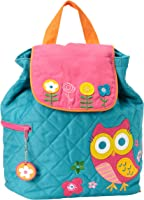 Quilted Backpack-Owl - Teal