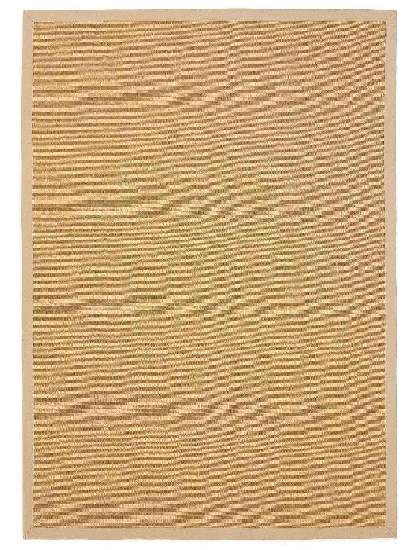 CarpetFine  Sisal Teppich 160x230 cm Beige - Bordüre