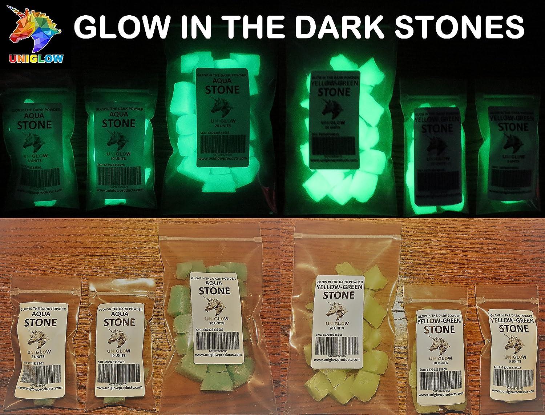 UniGlow 暗闇で輝く蛍光粉末染料  Stone 20 Units 687928337366 B06XSC3JZY Stone 20 Units|Stone Aqua Stone Aqua Stone 20 Units