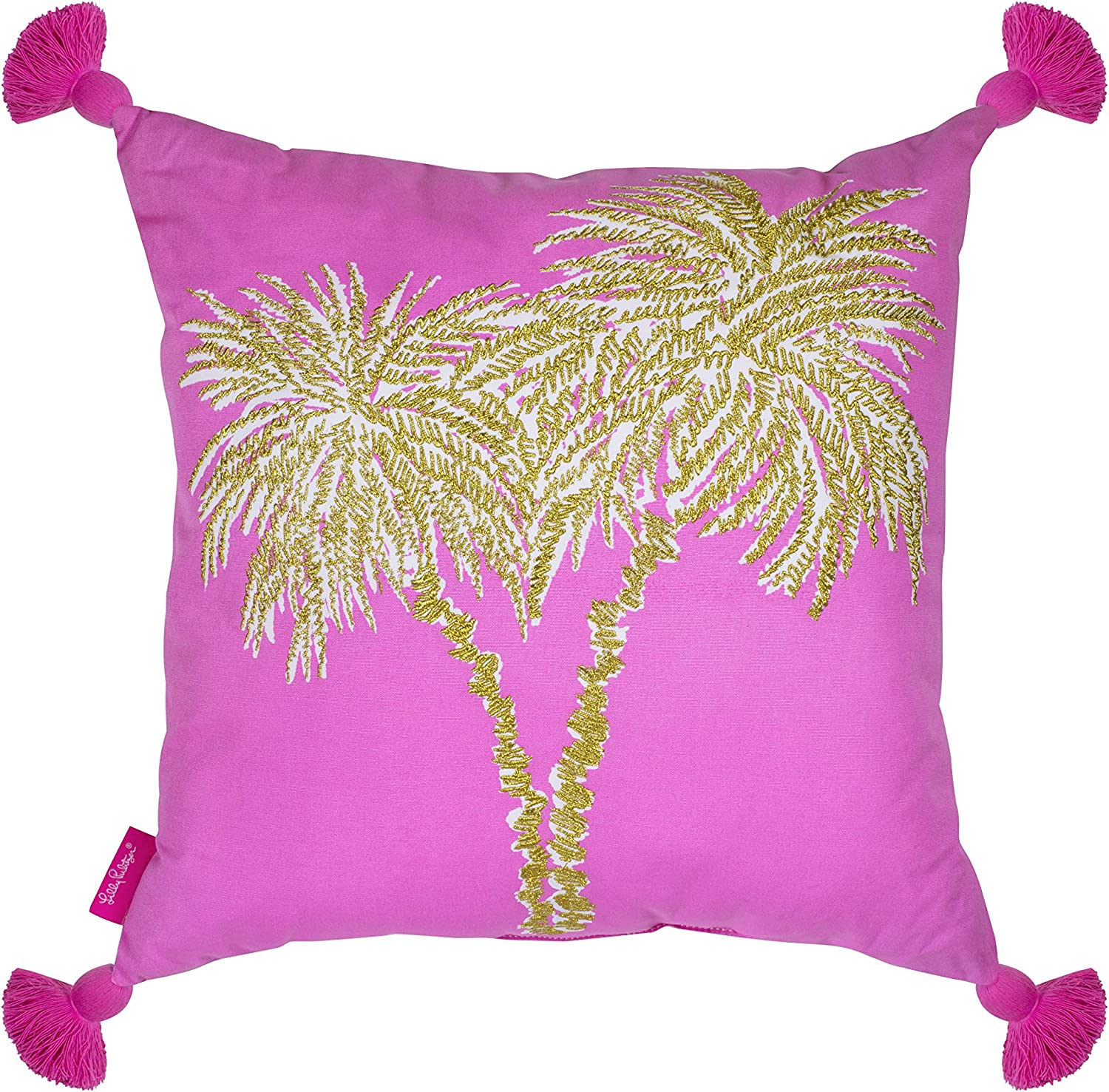 Lilly Pulitzer Indoor Outdoor Large Decorative Pillow, Palms
