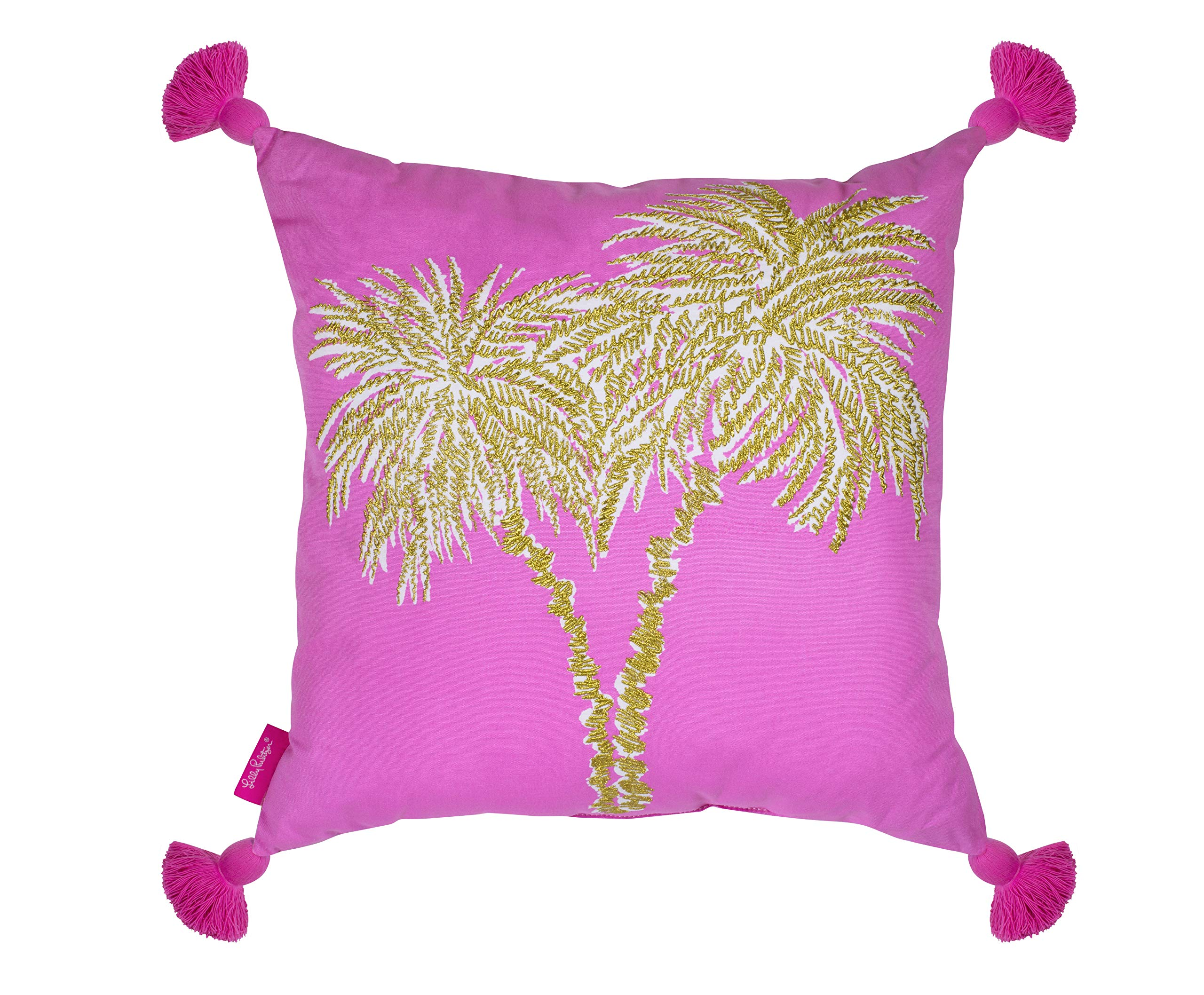Lilly Pulitzer Indoor/Outdoor Large Decorative Pillow, Palms