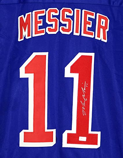 huge selection of 90788 34f24 Mark Messier New York Rangers Signed Autographed Blue #11 ...