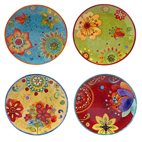 Certified International 22451SET/4 Tunisian Sunset Salad/Dessert Plates (Set of 4)  sc 1 st  Amazon.com & Amazon.com | Certified International 22451SET/4 Tunisian Sunset ...