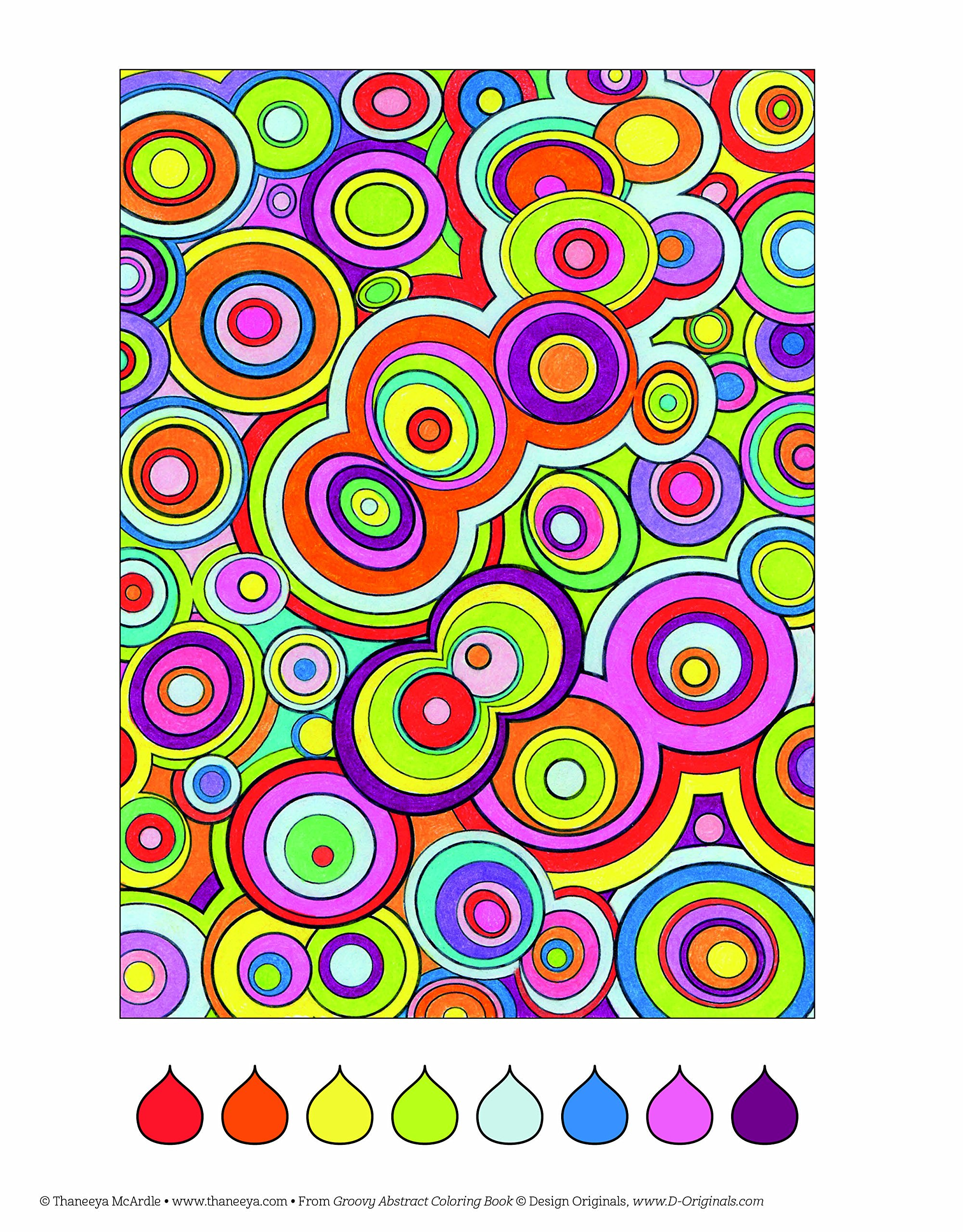 Groovy Abstract Coloring Book Is Fun Amazoncouk Thaneeya McArdle Books