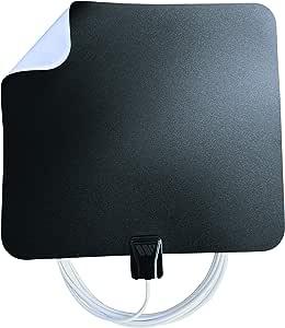 Winegard FL5500A FlatWave Amped Digital HD Indoor Amplified TV Antenna (4K Ready / ATSC 3.0 Ready / High-VHF / UHF), 50 Mile Long Range