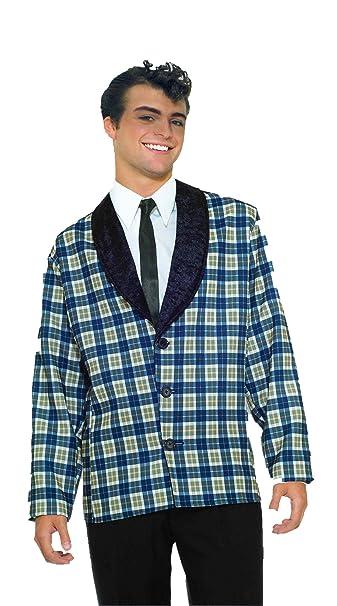 Amazon.com: Forum Plaid chamarra disfraz, Azul: Clothing