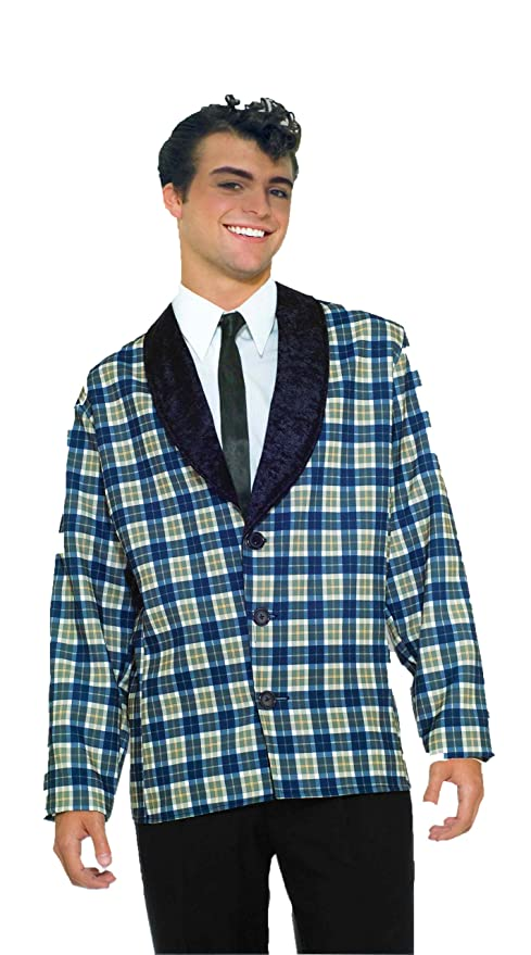 1950s Men's Costumes: Greaser, Elvis, Rockabilly, Prom Plaid Jacket Costume $25.20 AT vintagedancer.com