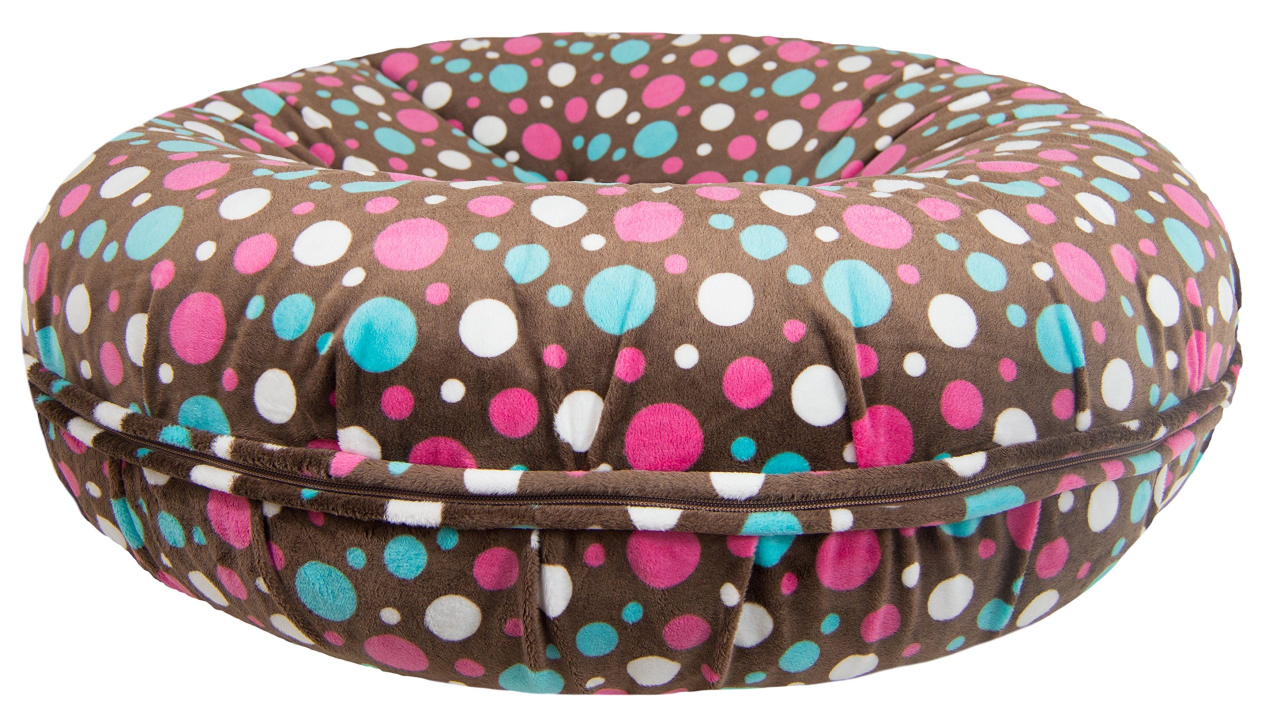 BESSIE AND BARNIE Signature Cake Pop Luxury Extra Plush Faux Fur Bagel Pet/Dog Bed (Multiple Sizes)