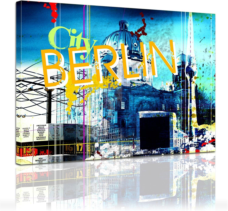 Bilderdepot24 Bastidor Imagen - Cuadros en Lienzo Berlín 4