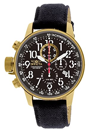 83824743770 Invicta Men s 1515 I Force Collection 18k Gold Ion-Plated Watch with Black  Cloth-