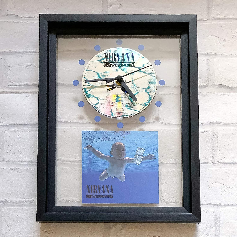 NIRVANA FRAMED CD ART CLOCK//Exclusive Design Nevermind