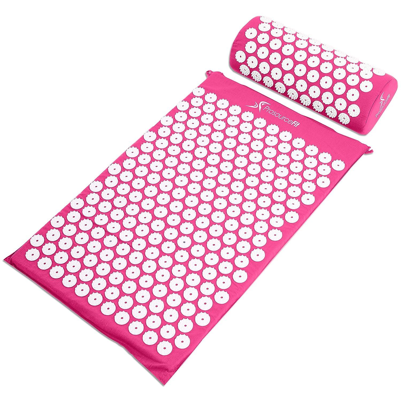 Cama Acupresion Para El Alivio Del Dolor De Espalda rosa