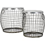 IMAX 14393-2 Balaz Wire Tables, (Set of Two)