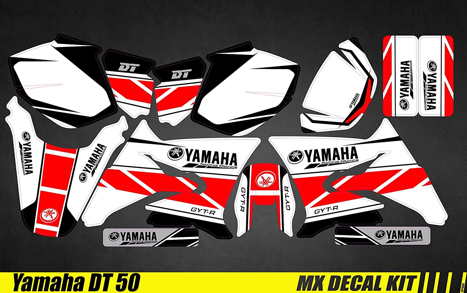 Kit Dé co Moto/MX Decal Kit Yamaha DT50 - Replica 2016 Mx Graf' X