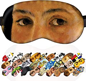 Sleep Mask The Girl with Peaches Serov Masterpieses for Women - 100% Soft Cotton - Comfortable Eye Sleeping Mask Night Cover Blindfold for Travel (The Girl with Peaches, Plastic Pack)