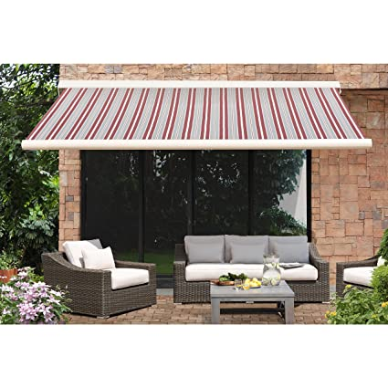 Amazon sunjoy SM Full Cassette Awning Red Garden