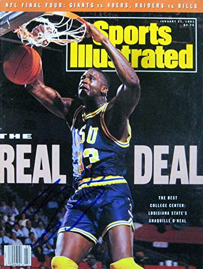 b2e5a2ea8e5 Shaquille O'Neal LSU Tigers Autographed Sports Illustrated magazine 1/21/91  at Amazon's Sports Collectibles Store