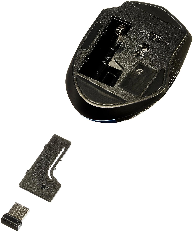 Rat/ón inal/ámbrico ergon/ómico Azul Basics DPI ajustable