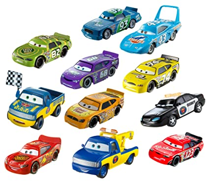Amazon Com Disney Pixar Cars Diecast 11 Pack Car Collection Toys