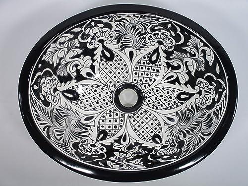 "Details about  /417/"" X 14/"" TALAVERA SINK drop in or undermount mexican bathroom handmade ceramic"