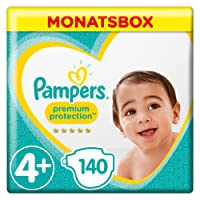 Pampers Premium Protection Gr.4+ Maxi Plus,10-14 kg, 1er Pack (1 x 140 Stück)